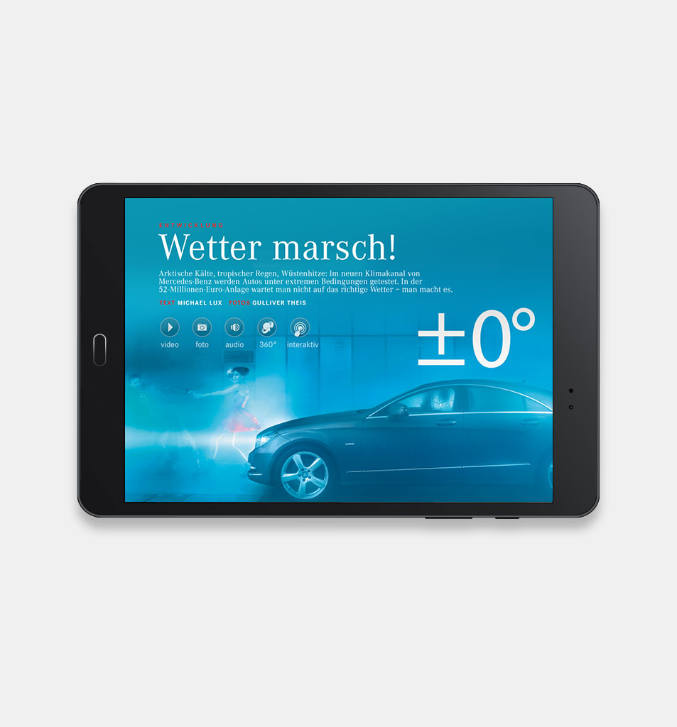 Design for the Mercedes Benz ipad Magazin