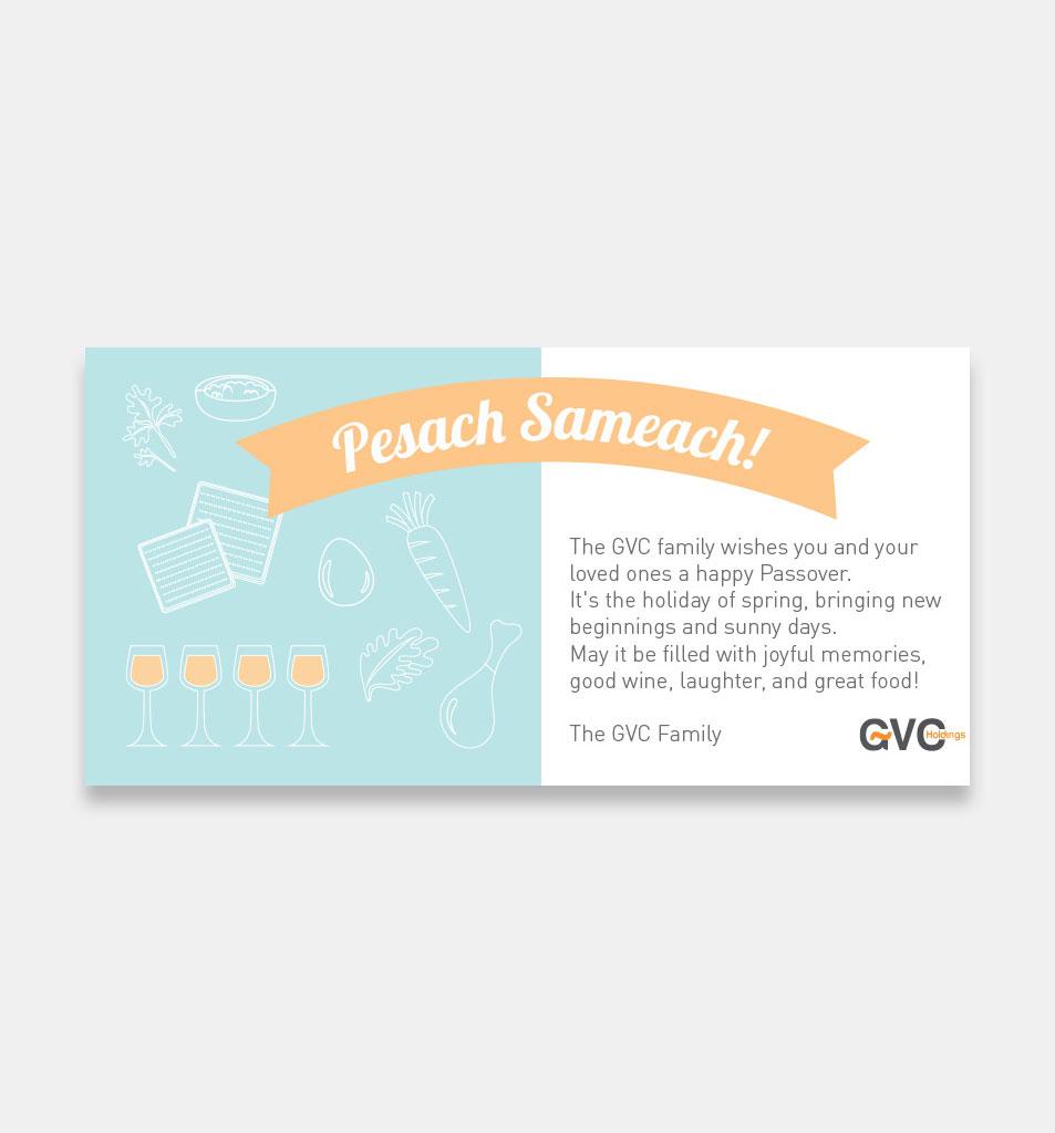 Pessach Postcard
